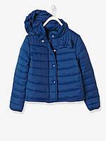 Ультралегкая демисезонная курточка Vertbaudet (Франция) для девочки в синем цвете