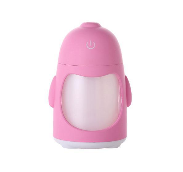 Увлажнитель воздуха пингвин с подсветкой Розовый