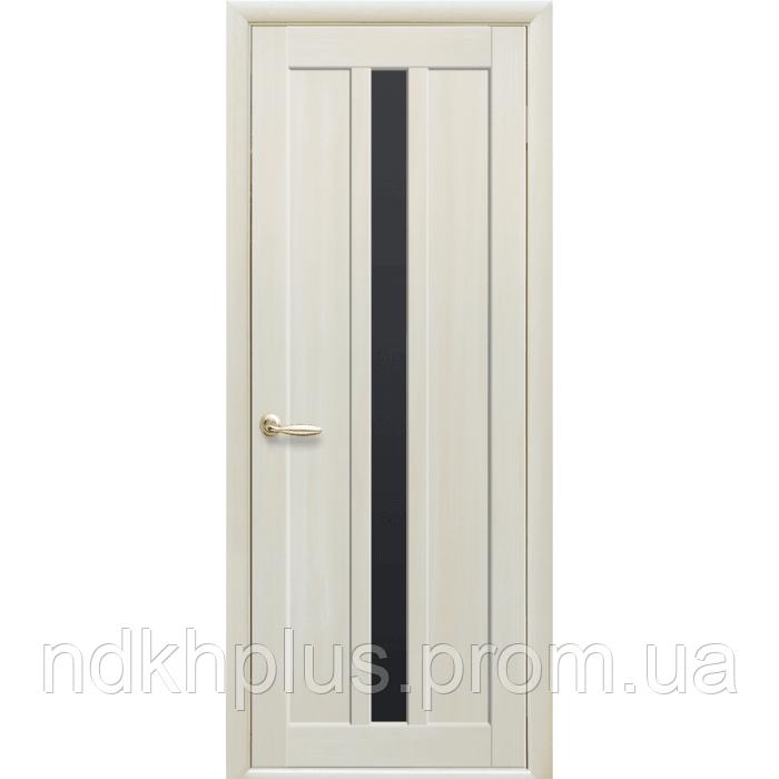 Двери межкомнатные Марти с черным стеклом