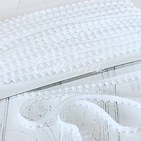 Тесьма с мелкими помпонами белая