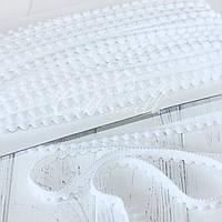 Тесьма с мелкими помпонами белая, фото 1