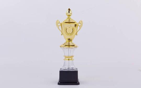 Кубок спортивный с ручками, крышкой и местом под жетон GLORY C-K078C, фото 2