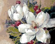Картина по номерам Белые лотосы