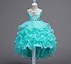 Платье бирюзовое бальное выпускное нарядное для девочки в садик или школу
