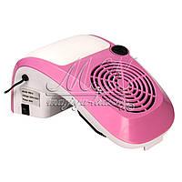 Вытяжка для маникюра Simei  858-9,   40W с регулятором мощности, розовая