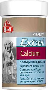 8in1 (8в1) EXCEL CALCIUM (ЕКСЕЛЬ КАЛЬЦИЙ И ВИТАМИН Д) пищевая добавка для собак (155 табл)