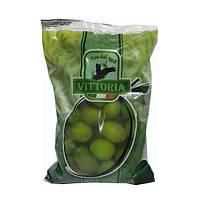"""Оливки зеленые с косточкой""""VITTORIA""""-0,5 кг."""