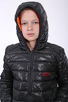 "Куртка весна-осень ""Жан"" графит-оранж, фото 2"