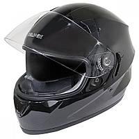 Глянцевый черный Шлем-интеграл  Hawk ST-1150 с двойным визором