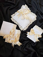 Подушечка для крестика , платочки для свечей