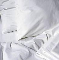 Постельное белье двуспальное Евро бязь Gold белое.