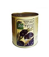 Маслины Torrent черные без косточки 3150г Испания