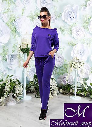 Стильный фиолетовый спортивный костюм женский (р. 42-44, 44-46, 48-50, 52-54) арт. 15303, фото 2