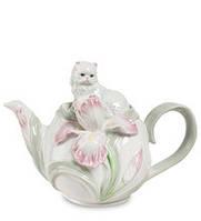 """Фарфоровый заварочный чайник """"Котенок с ирисом"""" (Pavone) CMS - 04/ 1"""