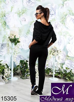 Стильный черный спортивный костюм женский (р. 42-44, 44-46, 48-50, 52-54) арт. 15305, фото 2