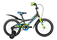 """Велосипед детский 16"""" spelli virage черно-синий с зеленым"""