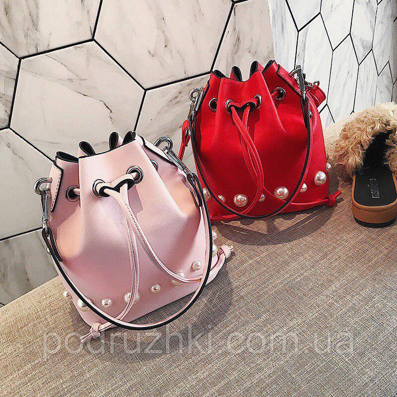 418fd1df7f7e Женская красивая сумка мешок на шнурке (3 цвета) , цена 370 грн., купить в  Запорожье — Prom.ua (ID#676751250)