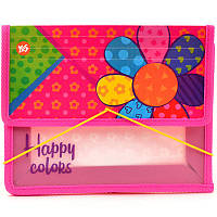 Папка для тетрадей B5 пластик 1 Вересня на резинке 491379 Happy colors