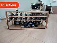 Майнинг ферма на 8 видеокарт RX570 GIGABYTE GAMING 4GB