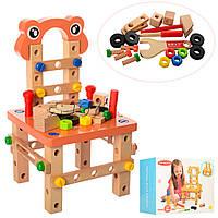 Конструктор деревянный стульчик 1172 на шурупах: инструменты в комплекте