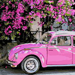 Картина по номерам Розовое авто
