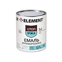 "Краска по металлу 3 в 1 антикоррозийная ELEMENT ""Стоп ржавчина"" 0.7 кг белый"