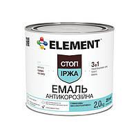 """Краска по металлу 3 в 1 антикоррозийная ELEMENT """"Стоп ржавчина"""" 2 кг коричневый"""