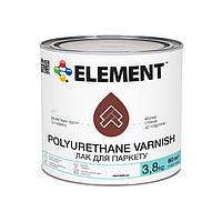 """Глянцевый паркетный лак Polyurethane Varnish """"ELEMENT"""" 3.8 кг"""