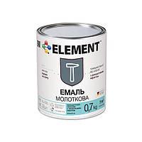 """Молотковая эмаль """"ELEMENT"""" 0.7 кг Темно-коричневый"""