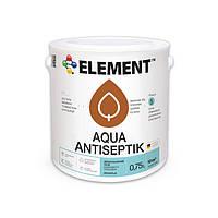 """Антисептик для дерева Aqua Antiseptik """"ELEMENT"""" 0.75 л белый"""