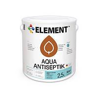 """Белый - Антисептик для дерева Aqua Antiseptik """"ELEMENT"""" 2.5 л"""