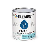 """Эмаль для окон и дверей акриловая  """"ELEMENT"""" 0.75 л"""
