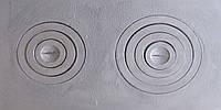 """Плита чугунная """"Искра"""" двухконфорочная  400*700 мм (вес - 20 кг)"""
