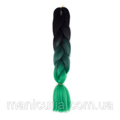 Канекалон омбре черно-зеленый, 60 см