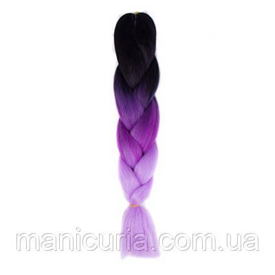 Канекалон омбре черно-фиолетовый, 60 см
