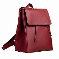 Женский рюкзак Loft бордовый из эко-кожи украинского производства, фото 1