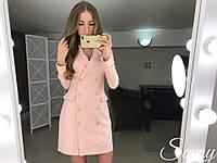 Платье-пиджак на пуговицах  (3 цвета), фото 1