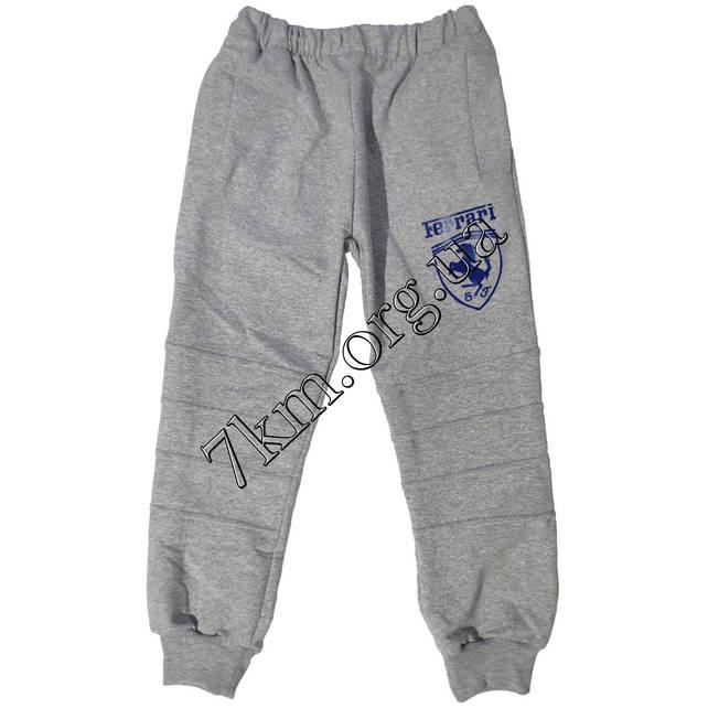 """Спортивные штаны для мальчиков реплика  """"Ferrari"""" 2-5 лет трикотаж светло-серые Украина оптом 2042"""