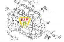 Блок двигателя DEUTZ BF4M 2013C