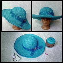 Летняя шляпка из пряжи рафия