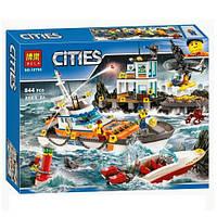 Конструктор Bela 10755 Cities Штаб береговой охраны 844 дет, фото 1