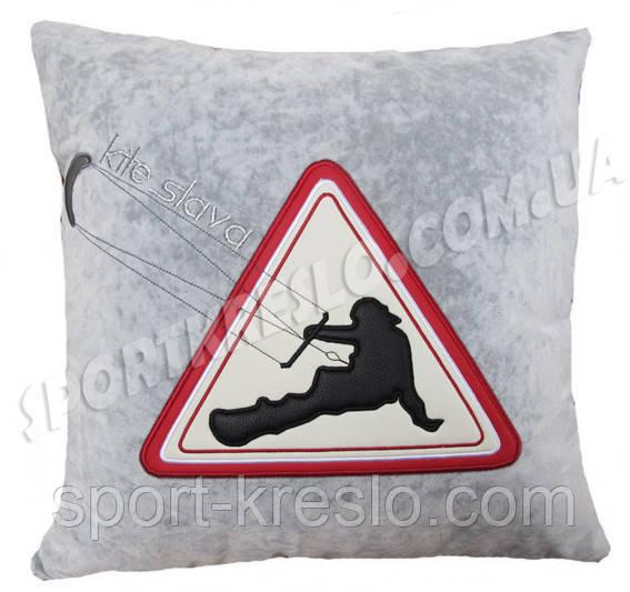 Подушка сувенирная в машину с вышивкой кайта подарок сувенир