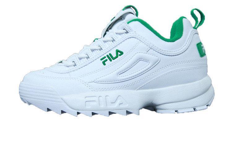 Женские кроссовки Fila Disruptor II White Green - купить по лучшей ... 6dd717f5a7f