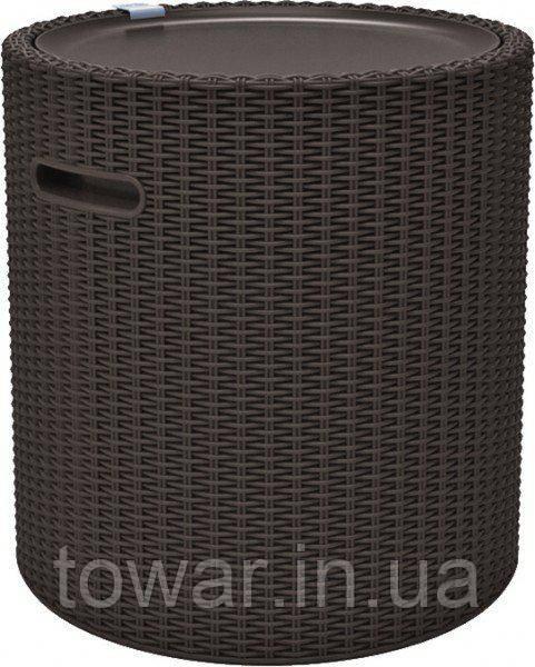 Стол-термос Keter Cool Stool Brown (ДхШхВ), см:43,7x43,7x44,3