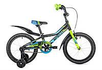 """Велосипед дитячий 20"""" spelli virage чорно-синій з зеленим"""