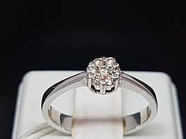 Золоте кільце з діамантами. Артикул 34898 17,5