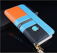 Женский кошелек. Клатч. Кожаный бумажник. Женский кожаный кошелек- клатч.  Отличное качество. Кожа PU.Код:КК3