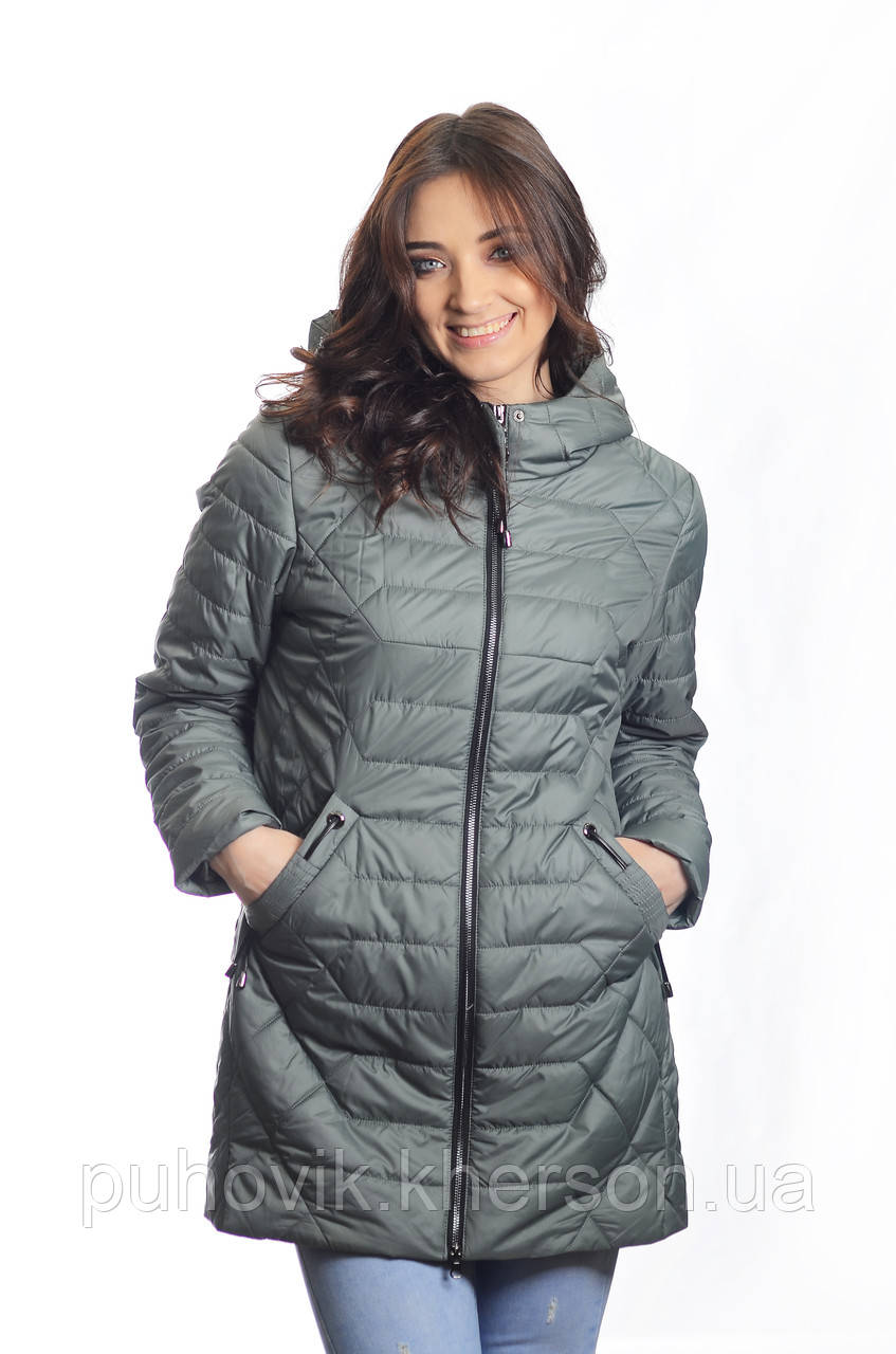110191c1d42 Куртка женская деми Hailuozi H 18-17 оливка -