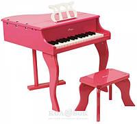 Фортепиано со стульчиком Hape розовое