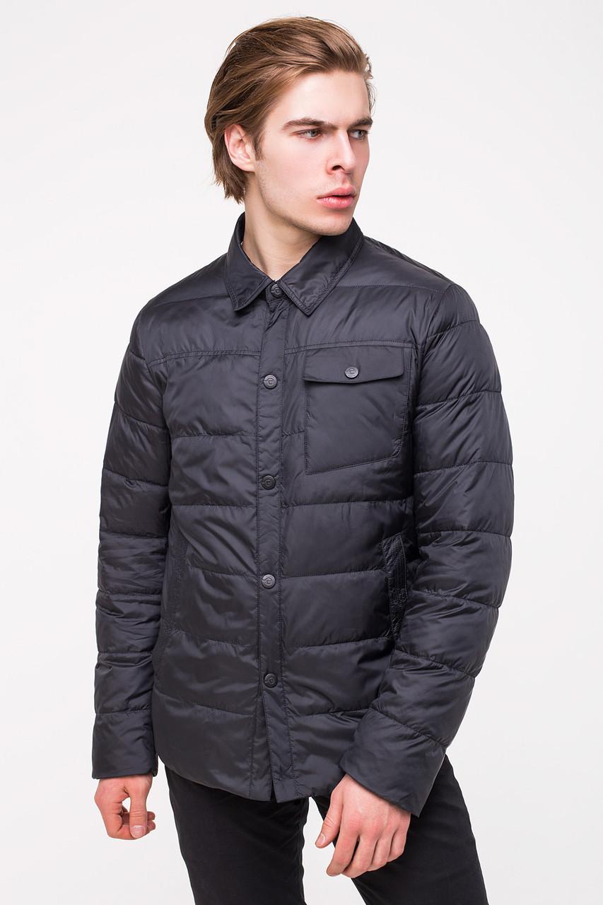 Демисезонная куртка-рубашка CLASNA CW18MC054 темно-синяя